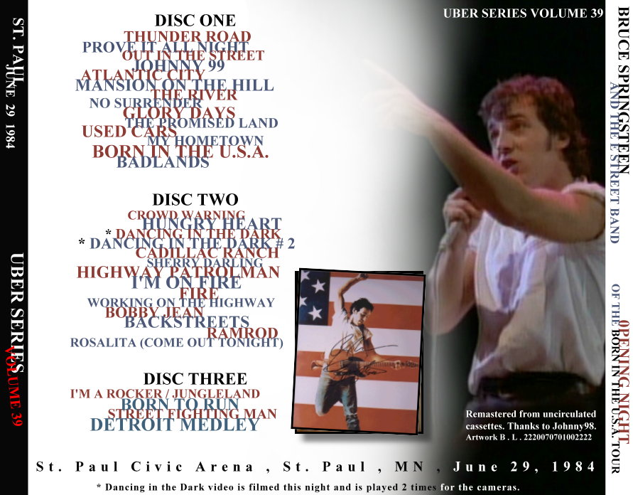 Bruce Springsteen St. Paul 29.06.1984