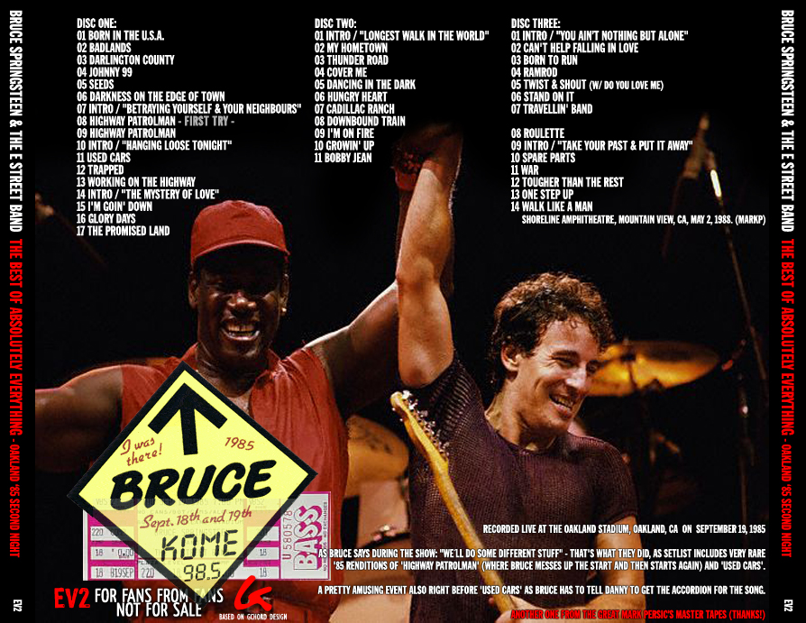 Best Springsteen Bootlegs By Tour