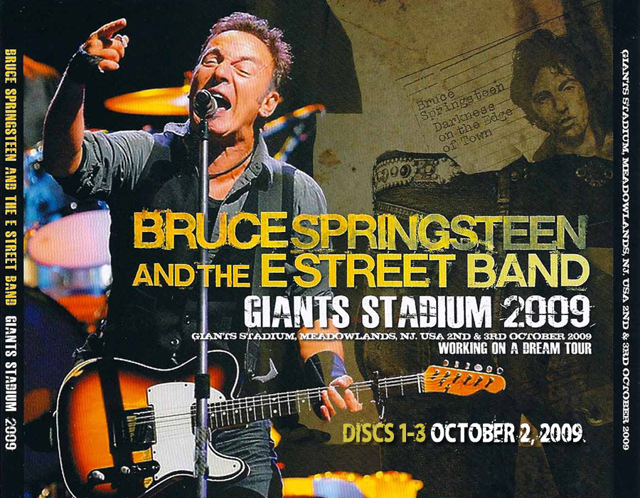 Artwork Giants Stadium Master Soundboard Oct 2, Oct 3 2009