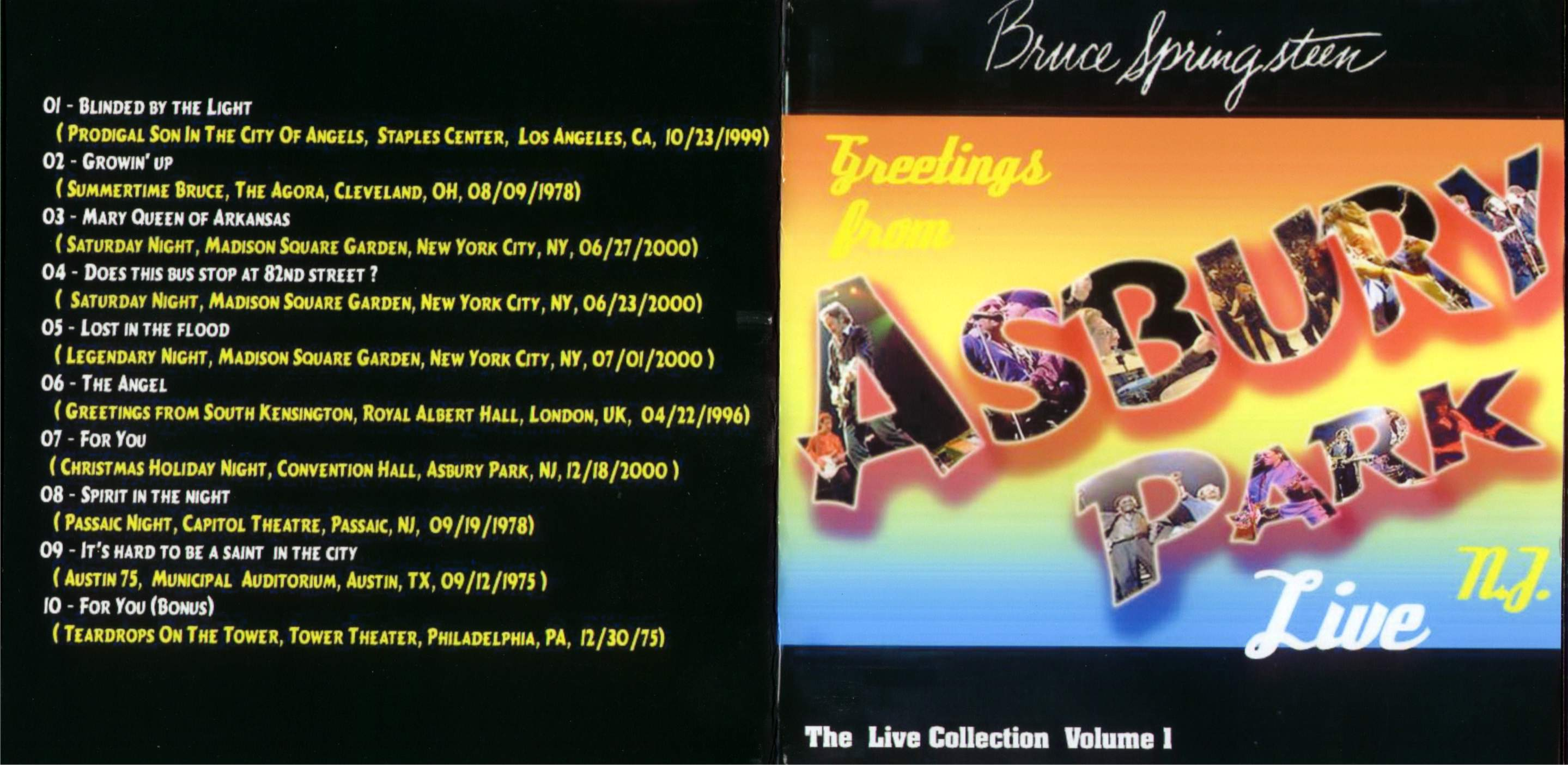 Artwork greetings from asbury park spl live collection title greetings from asbury park spl live collection date 0000 00 00 m4hsunfo